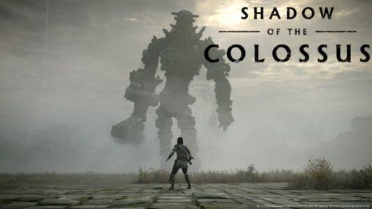 Shadow of the Colossus héros fait face à un colosse