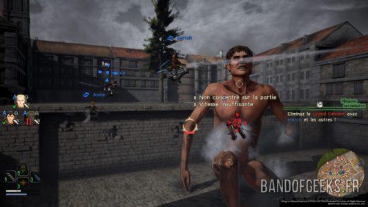 A.O.T.2 un groupe de soldats attaque un Titan