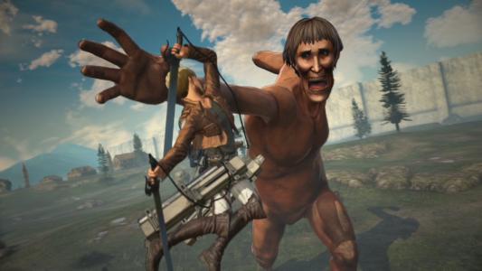 A.O.T.2 un personnage attaque un Titan