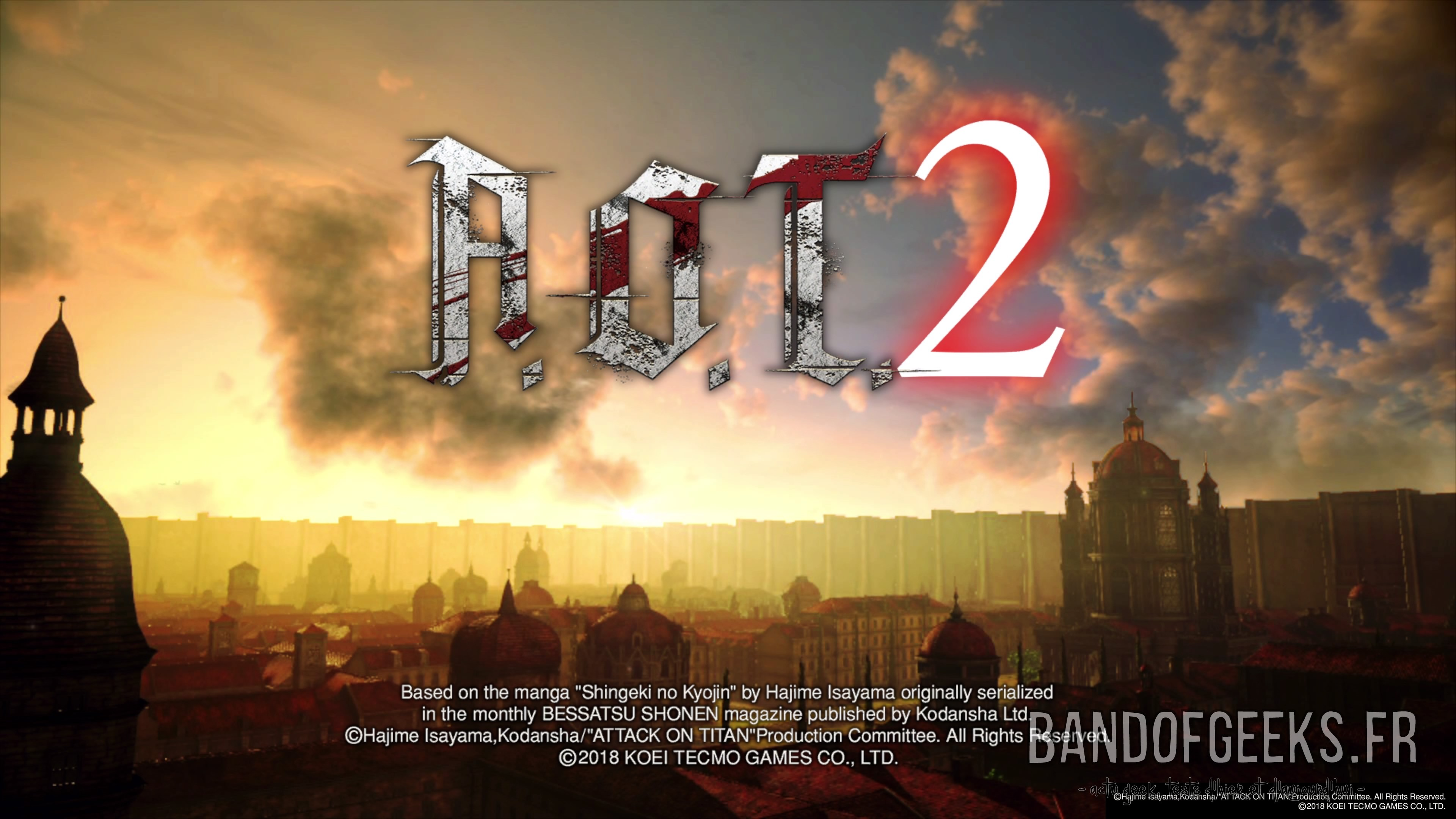 Test De A O T 2 Ps4 Band Of Geeks