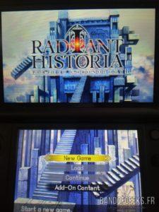 Radiant Historia – Perfect Chronology écran titre