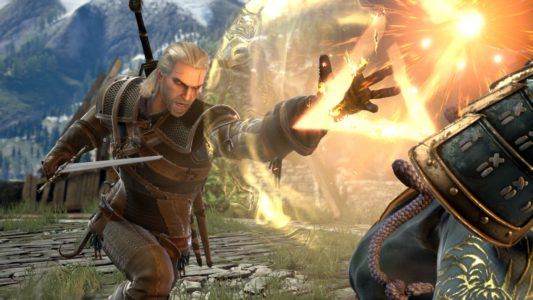 SOULCALIBUR VI Geralt signe attaque Band of Geeks