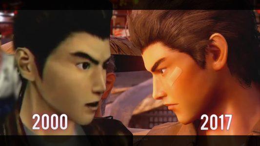 Shenmue comparatif visage Ryo 2000 et 2017