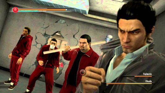 Yakuza 5 Kazuma Kiryu doit combattre des racailles