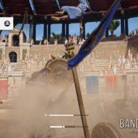 Assassin's Creed Origins Bayek fait une course de char