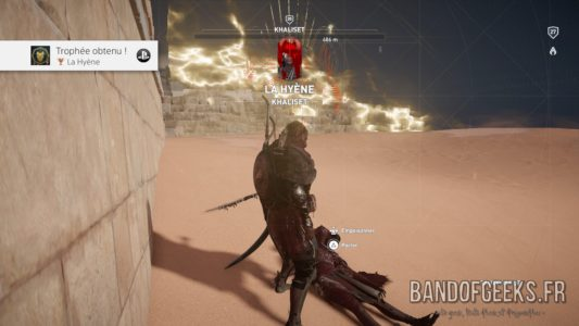 Assassin's Creed Origins Bayek a tué la Hyène