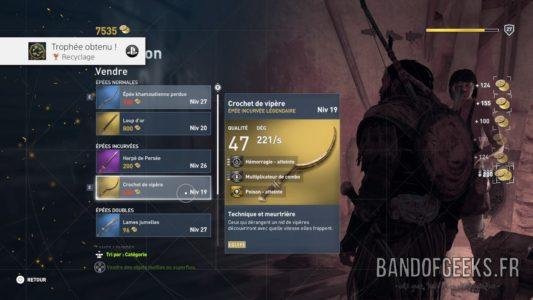 Assassin's Creed Origins Bayek revend les babioles à un marchand