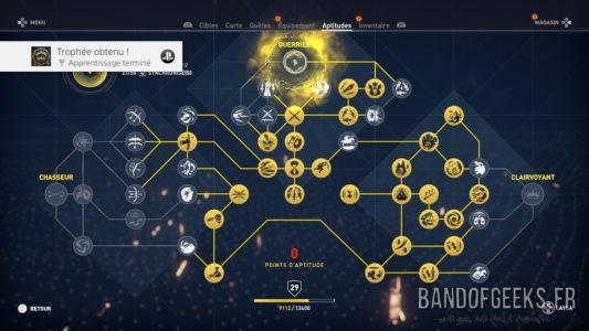 Assassin's Creed Origins arbre de compétences