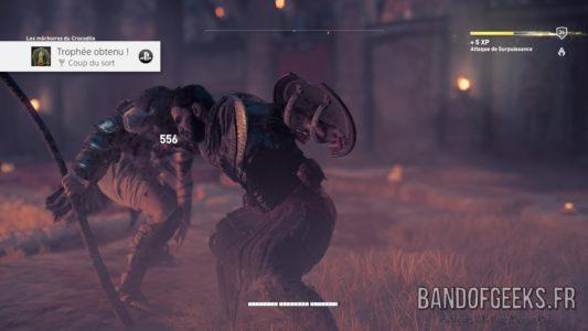 Assassin's Creed Origins Bayek empale son adversaire