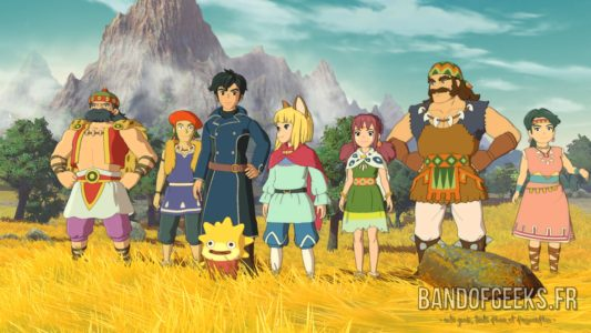 Ni no Kuni II groupe Evan prend la pose
