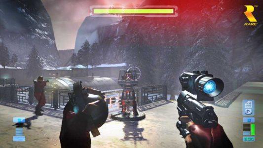 Perfect Dark Zero joueur vise une tourelle