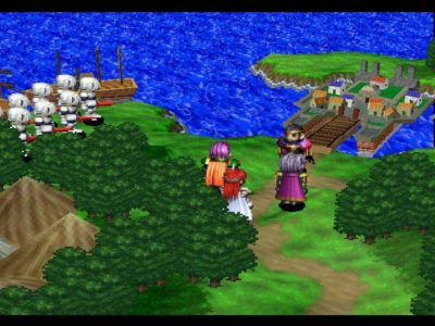 Shining Force III héros discutent