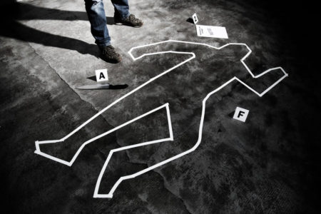 Scène de crime meurtre