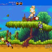 Gunstar Heroes le héros esquive des tirs ennemis