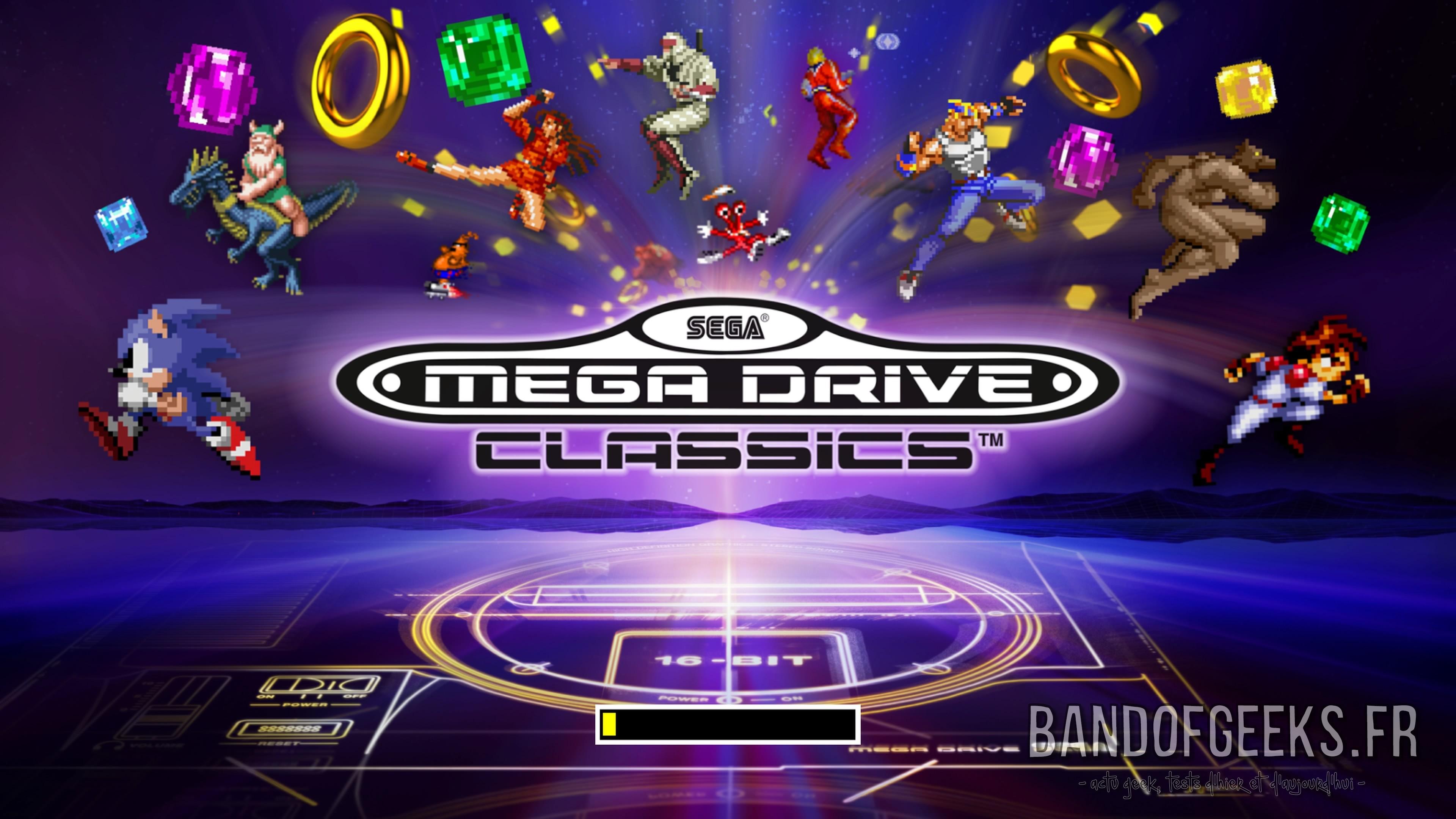 Sega Mega Drive Classics écran titre
