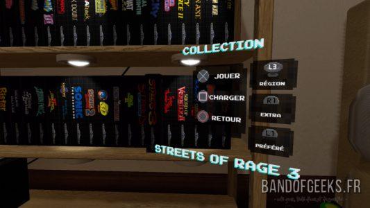 Sega Mega Drive Classics sélection du jeu