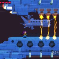 Shantae Half Genie-Hero Ultimate Edition Shantae sur le vaisseau volant doit éviter des lasers