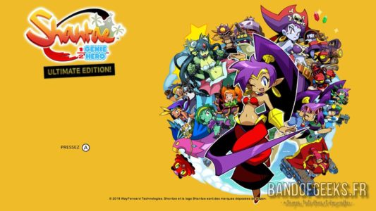 Shantae Half Genie-Hero Ultimate Edition écran titre