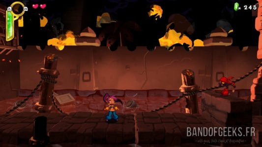Shantae Half Genie-Hero Ultimate Edition Shantae dans le premier niveau