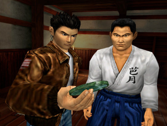 Shenmue I & II HD Ryo et Fuku regardent le miroir