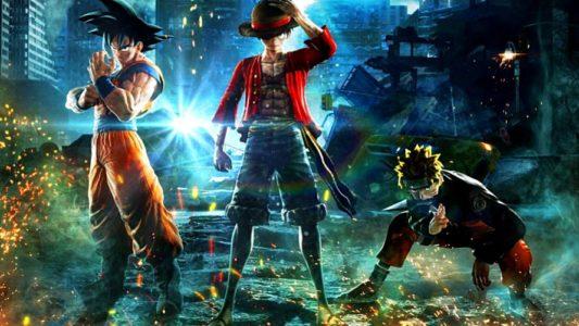 Jump Force Goku Luffy et Naruto se préparent au combat