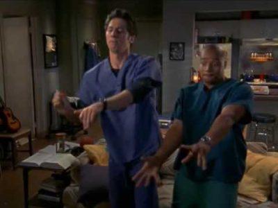 Scrubs JD et Turk dansent