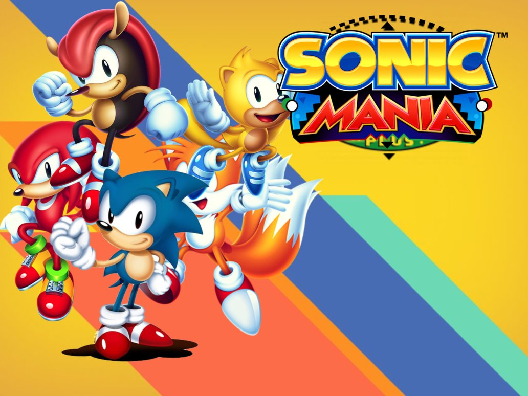 Sonic Mania Plus personnags principaux et logo