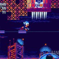 Sonic Mania Plus Sonic en équilibre sur une plateforme
