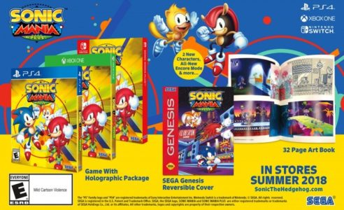 Sonic Mania Plus édition physique avec jaquette réversible