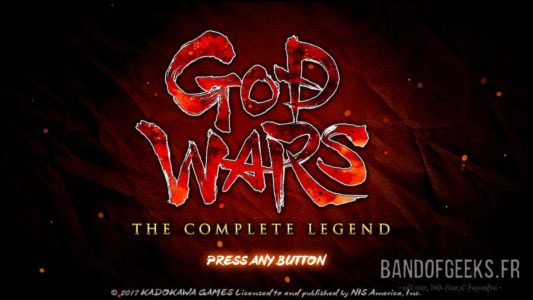 God Wars - The Complete Legend écran titre