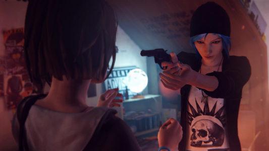 Life is Strange Chloé braque son arme sur Max