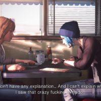 Life is Strange Chloé et Max discutent au Diner