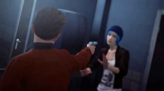 Life is Strange Nathan Prescott menace Chloé avec une arme