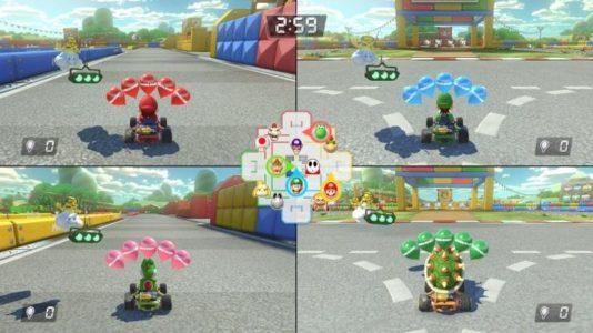 Mario Kart 8 Deluxe mode multijoueur arène