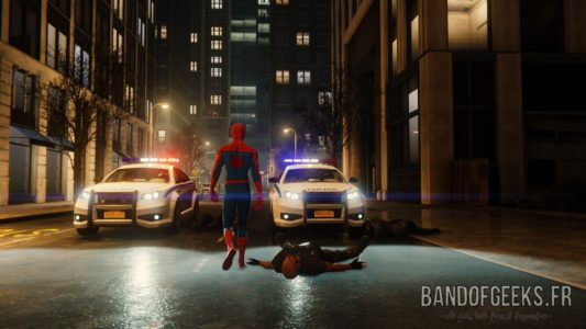 Marvel's Spider-Man dos police voiture Band of Geeks