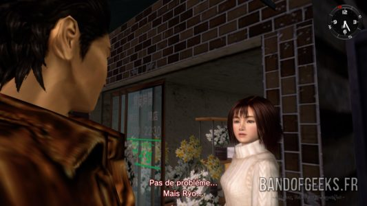Shenmue I & II Ryo discute avec Nozomi