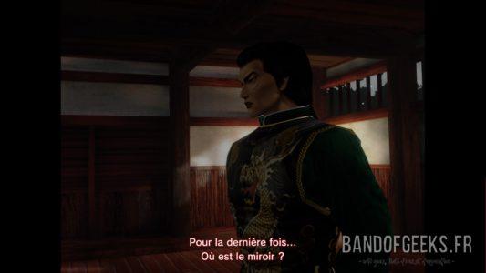 Shenmue I & II Lan Di demande où se trouve le miroir.