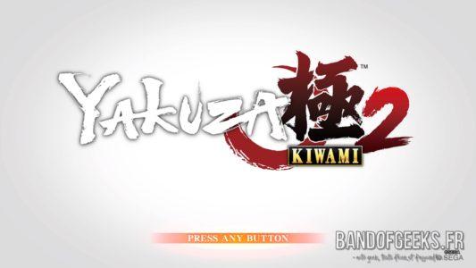 Yakuza Kiwami 2 écran titre