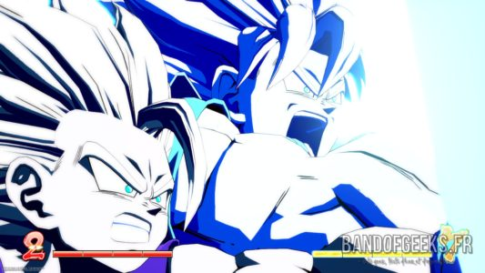 Dragon Ball FighterZ Gohan ado et Goku fusionnent leur Kaméhaméha