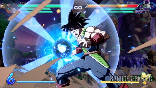 Dragon Ball FighterZ Bardock lance une boule d'énergie
