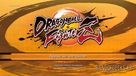 Dragon Ball FighterZ écran titre