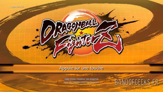 Dragon Ball FighterZ écran titre
