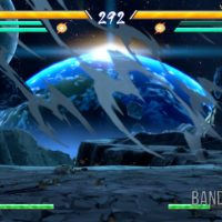 Dragon Ball FighterZ Végéta Blue affronte Goku dans l'espace
