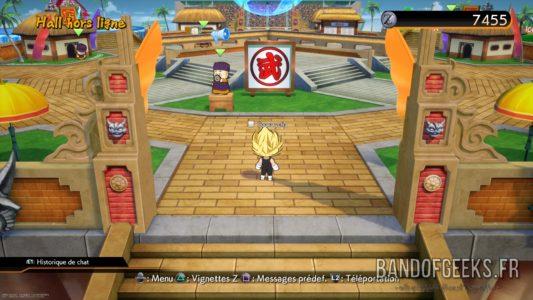 Dragon Ball FighterZ hall principal hors ligne