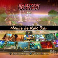 Dragon Ball FighterZ écran de sélection du niveau
