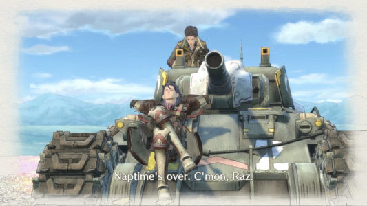Valkyria Chronicles 4 Naptime over tank sieste Band of Geeks