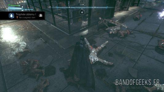 Batman Arkham Knight Batman a étalé tous ses ennemis