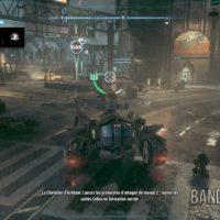 Batman Arkham Knight Batmobile dans les rues de la ville