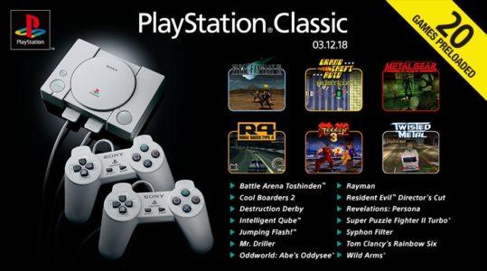 PlayStation Classic liste des jeux inclus
