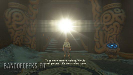 Breath of the Wild Link se réveille